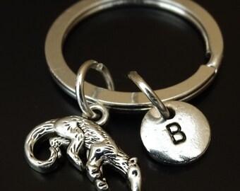 Anteater Keychain, Custom Keychain, Custom Key Ring, Anteater Charm, Anteater Pendant, Anteater Jewelry, Ant Eater Keychain,Wildlife Jewelry