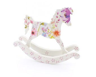 Wooden rocking horse Baby toy Nursery decor Rocking horse decor Wooden toys figurine Baby gift Shower decorations Small wooden toy Xmas gift