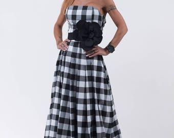 Maxi dress  / Long dress /Woman long dress /Elegant Dress /Unique dress / Wedding dress /Strapless dress