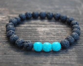 Lava Stone Bracelet,8mm Beads,Volcano Lava Stone Bracelet,Man,Woman,health,Relieve,Protection,Yoga,Stretch,Men,Women,Protection,Meditation