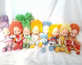 RESERVED for JESSICA **Do NOT Buy**Rainbow Brite Dolls,Lot of 7,Hallmark,Rainbow Brite & Friends,Rainbow Brite Cartoon,Rainbow Bright Toys