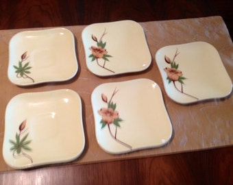 SALE  Weil Ware Rose pattern 3 bread and butter plates, 2 saucers