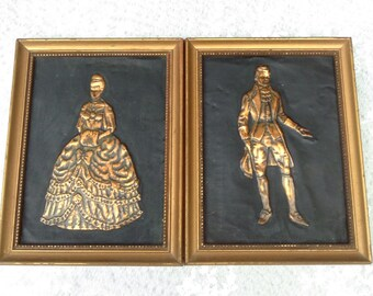 Copper Wall Art Copper Relief Picture Victorian Wall Art Vintage Victorian Decor