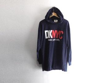 DKNY HOODED SHIRT // X-Large // 90s // Dkny // Dkny Shirt // Dkny T-Shirt // 90s Dkny // Hooded Shirt // Dknyc // Nyc // Hooded Shirt // 90s