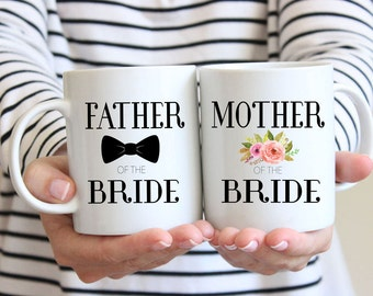 Mother And Father Of The Bride, Mug Set, Father And Mother Of The Bride, Gifts, Mother Of The Bride Mug, Father Of The Bride Mug