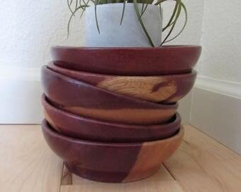 Teakwood Bowls, vintage wood bowls, candy dish, nut dish, wooden bowls