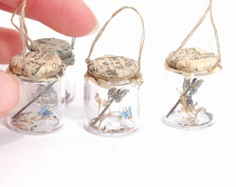 Butterflies in Jar - 1/12th dollshouse miniature