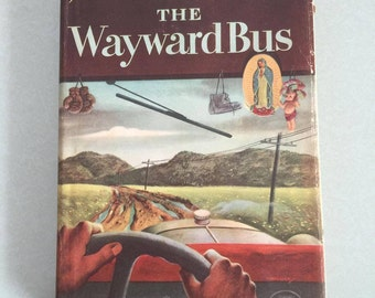 Vintage Book The Wayward Bus by John Steinbeck Published by The Viking Press 1947 - Free Shipping