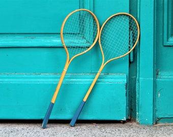 Badminton Racquets - Old Badminton Rackets - Wooden Badminton Rackets - Small Vintage Rackets - Wall Decor - Sports Decor - Retro Sports