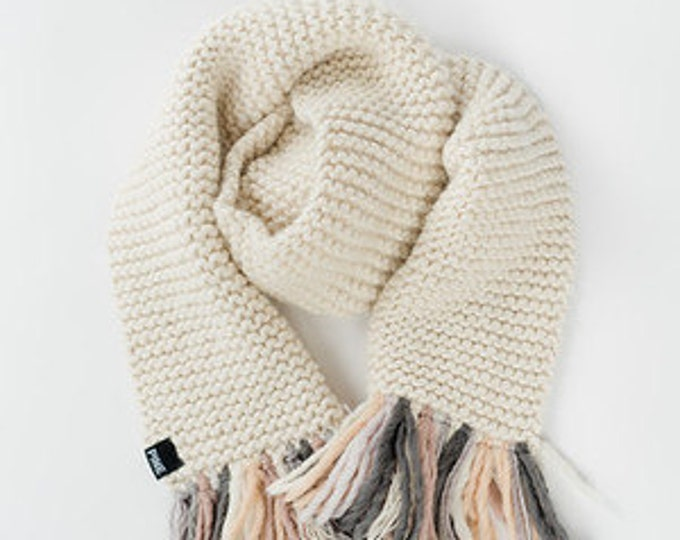 Tassel Scarf// Super Thick Merino Wool