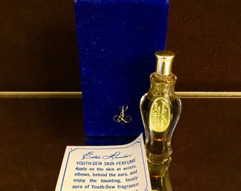 Youth Dew Perfume 1960s 1/4 oz Vintage Estee Lauder sealed
