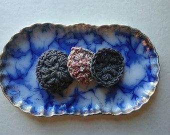 Crochet Face Pouf (Set of 3)