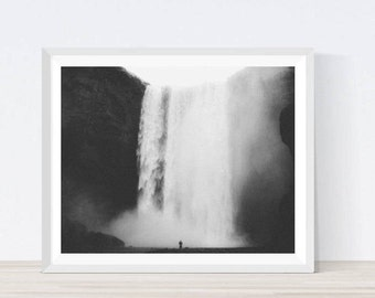 Waterfall Art, Waterfall Photo, Waterfall Print, Waterfall Photography, Nature Print, Water Print, Waterfall Decor, Waterfall Poster,