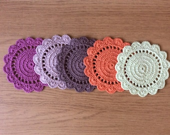 Crochet coasters,doily coasters,drink coaster handmade coaster,kitchen decor,Christmas gift,lovely gift