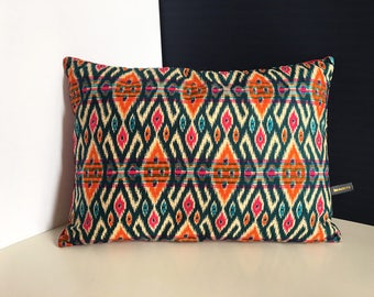 Wax way Ikat pillow