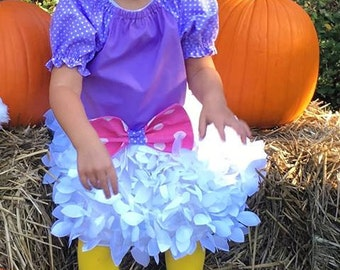 Daisy Duck Inspired Costume, Birthday Outfit, Infant Halloween Costume, Infant Daisy Duck Costume, Daisy Duck Dress up,