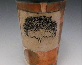 Soda fired tree tumbler
