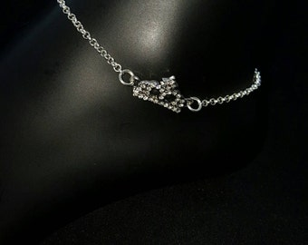 Queen/Crown Anklet Silver Plated