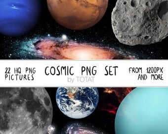 Cosmic PNG clip art set, transparent png set, galaxy clip art, universe clip art