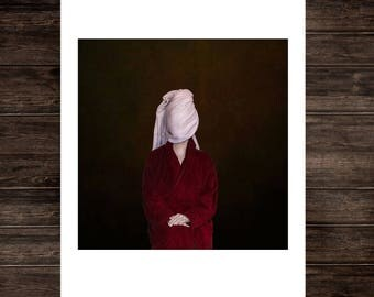 Surreal photography art print, minimal print conceptual fine art portrait print photo minimalism moody dramatic painterly wall art portrait