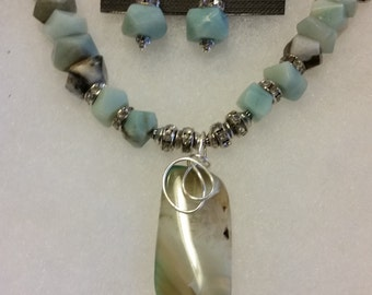 Chunky Amazonite Necklace Set