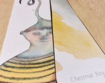 Illustrated Bookmark - Chestnut Boy