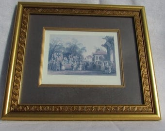 Ceremony of meeting of the Spring print and matted and framed