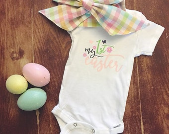 My First 1st Easter Baby Girl Onesie Outfit