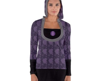 Amethyst Hoodie Tunic - Hooded Tunic Steven Universe Tunic Crystal Gem Dress Purple Tunic Amethyst Hoodie Nerdy Bodycon Hoodie Hoodie Tunic