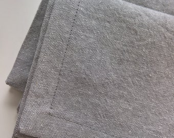 Grey Linen Napkins, Grey Linen Dinner Napkins, Classic Cloth Napkins, Rustic Cloth Napkins, Gray Linen Cloth Napkins