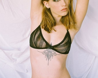 Blair black mesh lace panties