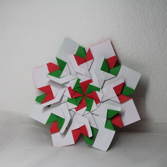 Origami Christmas Decorations: Great Origami Decoration / Holiday Decor / Home Decor