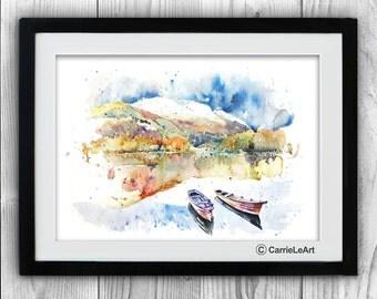 Original Watercolour Landscape 'Lake District',Landscape painting,Lakedistrict painting,Autumn Landscape,Lake District art,UK Landscape art