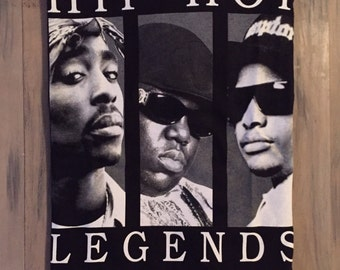 Items similar to 2pac, eazy-e, biggie smalls, ice cube rap ...