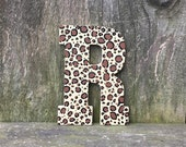 Cheetah print letters, cheetah decor, nursery animal print, animal print, safari animal print, cheetah print, safari letters, wall letters
