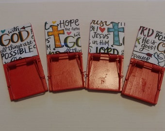 Religious Mousetrap Magnets - Set of 4