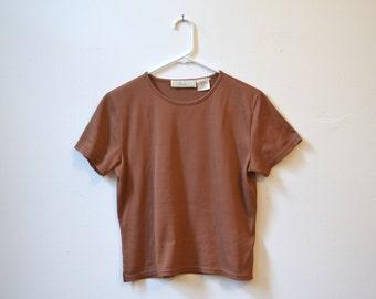 SALE 1980/90s vintage 'Liz Claiborne Studio' copper Tactel nylon shirt, size small/medium