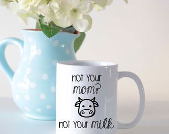 Vegan mug ideal small gift for vegans// gift for breastfeeding moms// dairy free gift// animal lovers mug// ethical mug