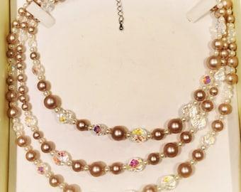 Swarovski & Pearl Necklace
