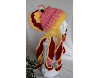 Crochet Octopus Hat