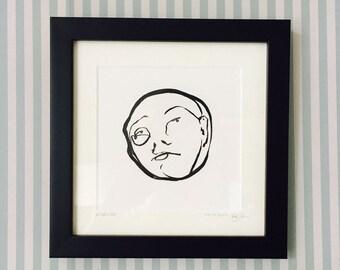Disbelief - Framed Original Illustration - Natalie Blofield