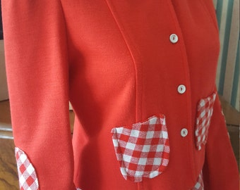 SOLD Rare 1960s 2 Piece Skirt and Jacket by Designer Jon Adam Red and White