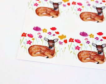 Woodland Deer Bambi Stickers