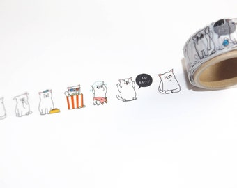Washi tape Baijiji cat cat