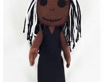Nubian Princess Plushie/rag dolls/Plushies/dolls/stuffed dolls/creepy dolls/horror dolls/soft toys/handmade/made in USA/unique gifts/felt