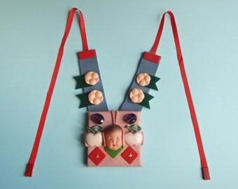 Apple Head Necklace