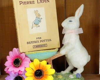 1960's Vintage Peter Rabbit Book / French Book Pierre Lapin / Beatrix Potter Small Storybook / Mid Century Old Book / Rabbit Fairy Tale