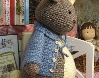 Peter Rabbit Most lovely crochet stuffed rabbit doll big size