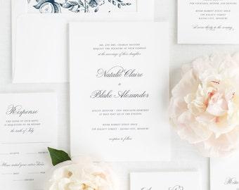 Classic Script Wedding Invitations - Deposit