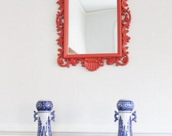 Coral Colored Mirror